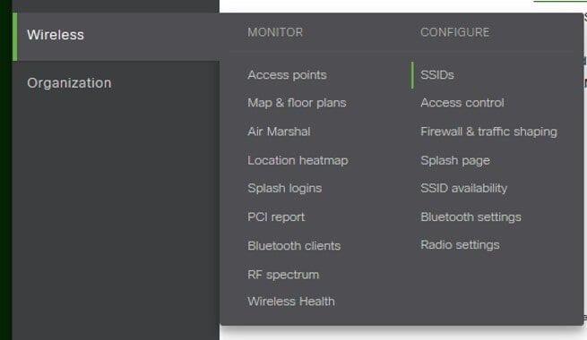 Confiure Meraki Wireless SSID