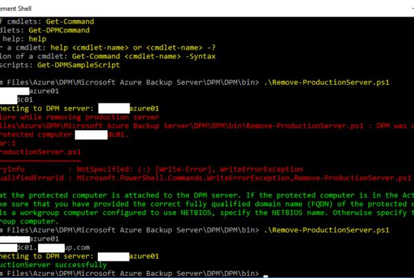 DPM Management Shell Force Remove DPM Agent screenshot