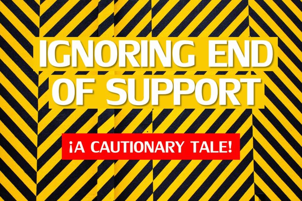 End of Support Warnings