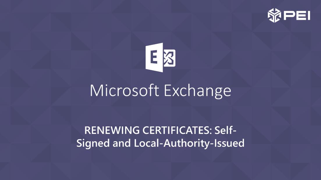 certificate renewals
