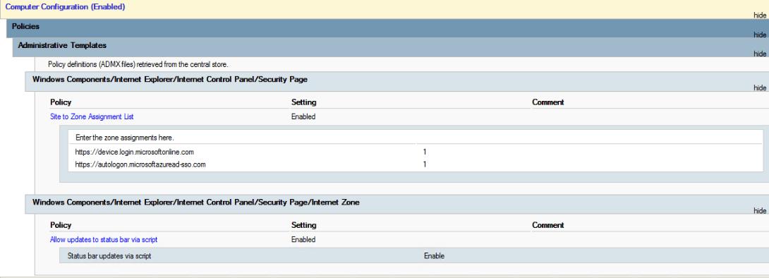 GPO Configuration Screenshot