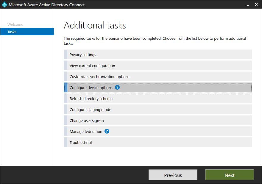 Configure Device Options