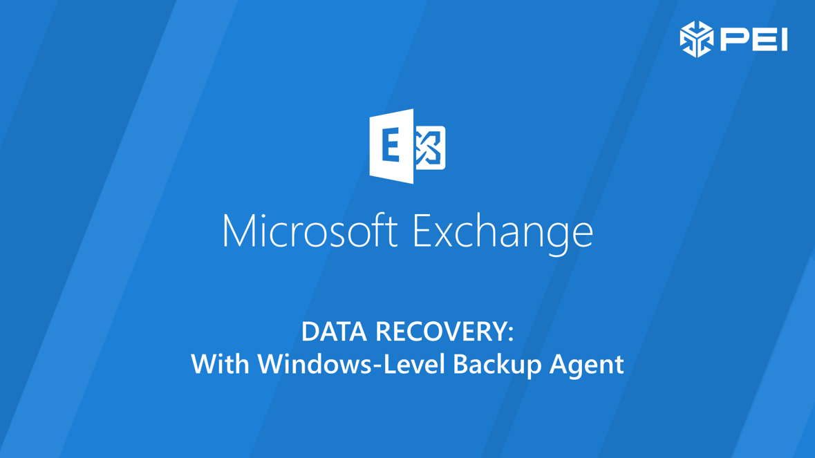 Exchange Data Recovery