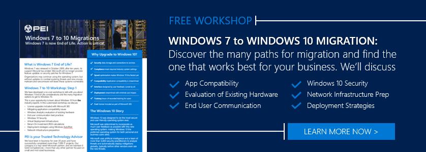 Windows 7 to Windows 10 Migration Workshop