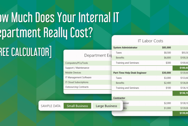 What Does IT Costs To Run Your IT Department with Free Calculator