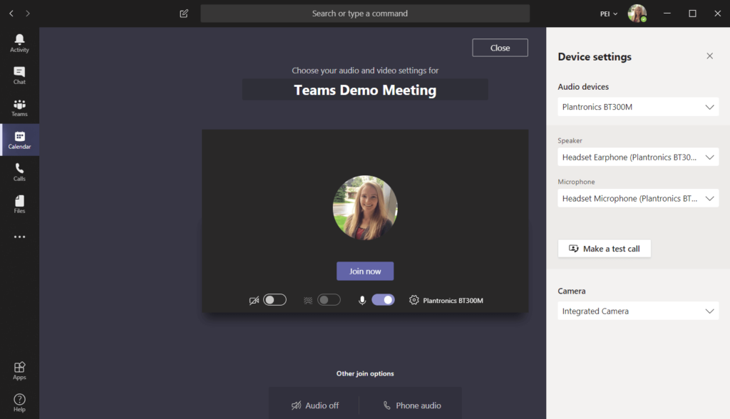 Join Screen in Microsoft Teams