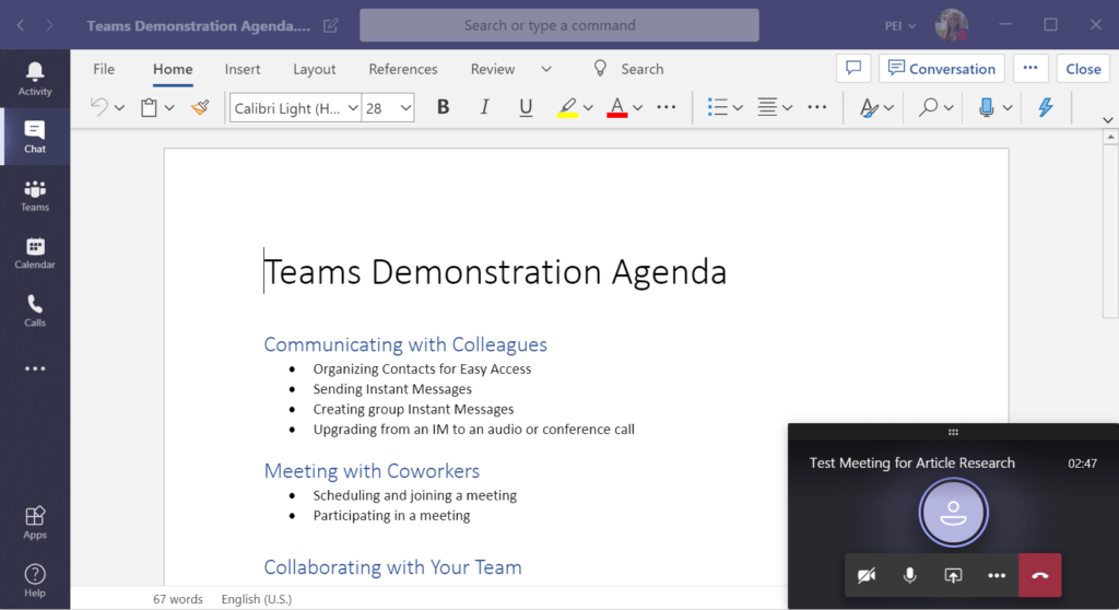 edit File in Microsoft Teams meeting