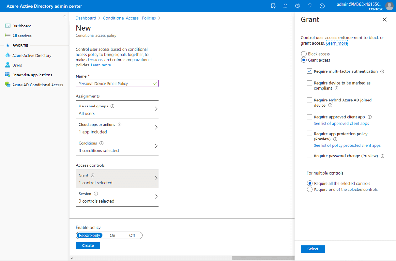Conditional Access Policy Screenshot For Security MSP
